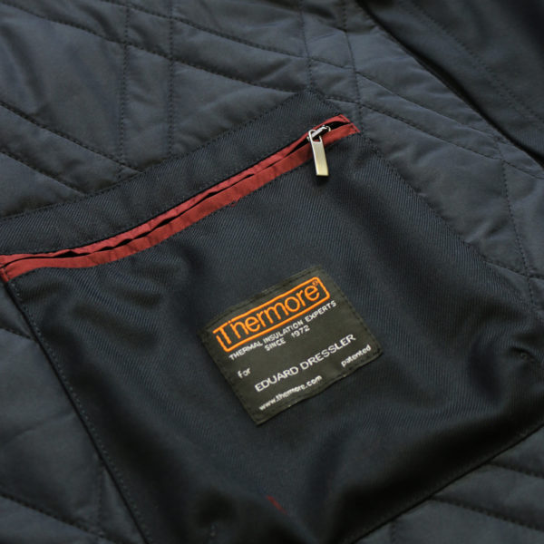 Eduard Dressler black raincoat inner pocketdetail