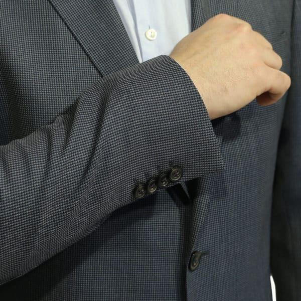Eduard Dressler blazer jacket navy button detail