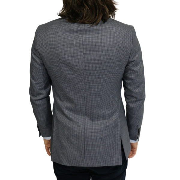 Eduard Dressler blazer jacket small check blue back Copy