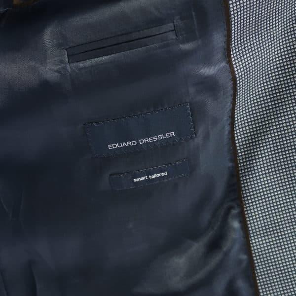Eduard Dressler blazer jacket small check blue lining