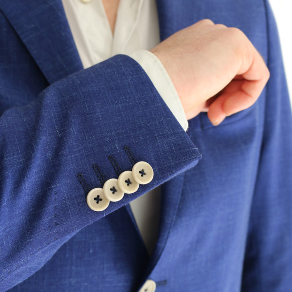 Eduard Dressler blue jacket button detail