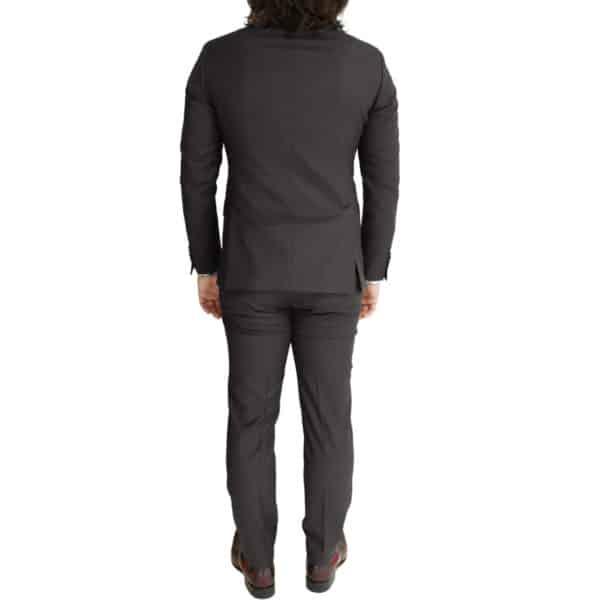 Eduard Dressler charcoal suit back