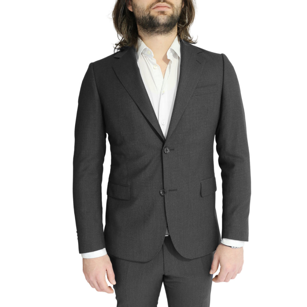 Eduard Dressler charcoal suit jacket