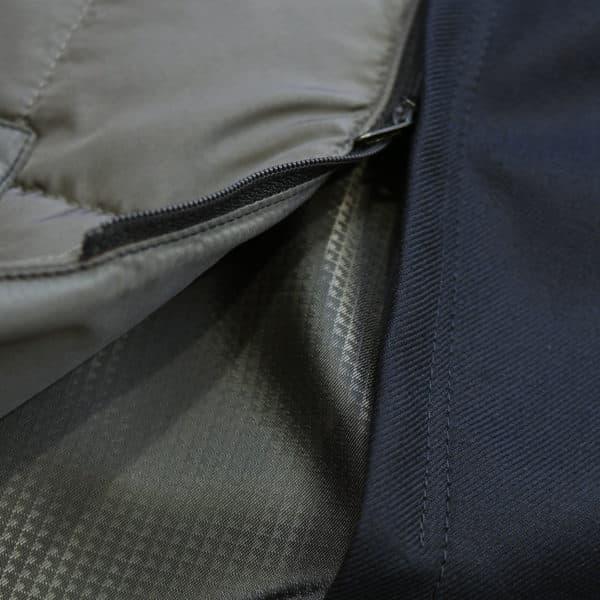 Eduard Dressler navy raincoat detail2