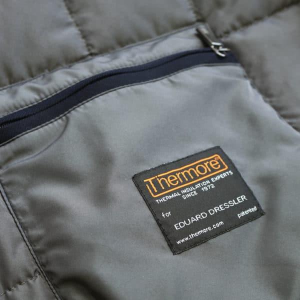 Eduard Dressler navy raincoat inner pocket detail