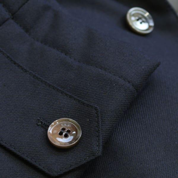 Eduard Dressler navy raincoat sleeve detail2