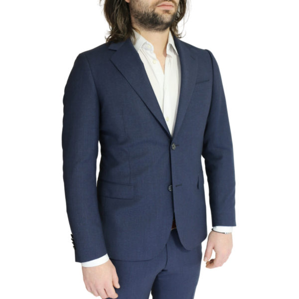 Eduard Dressler navy suit jacket side