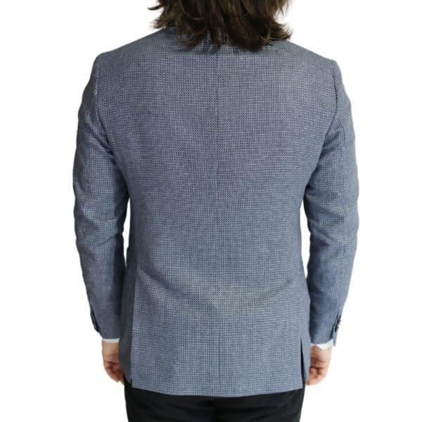 Eduard Dressler textured navy and white jacket back