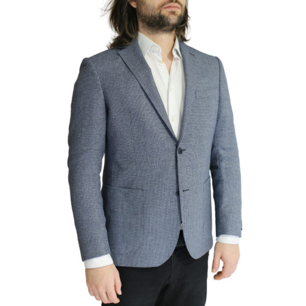 Eduard Dressler textured navy and white jacket side