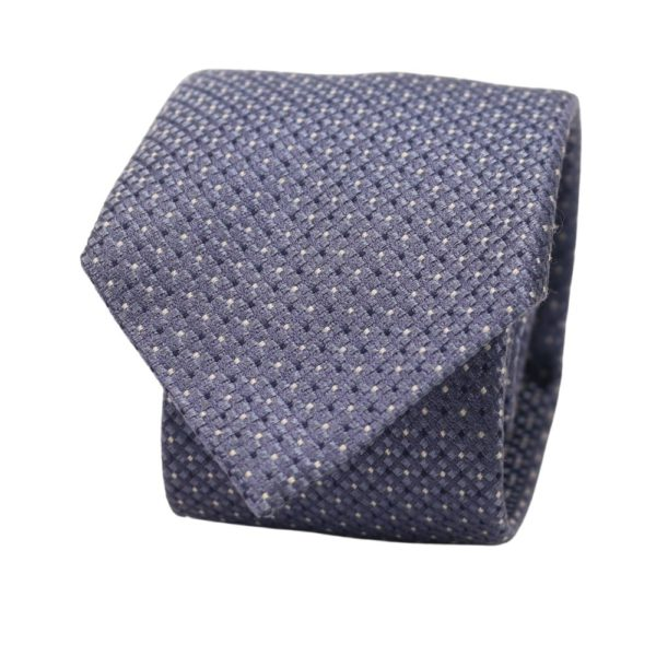 Emporio Armani Tie Light Blue diamonds and dots 1