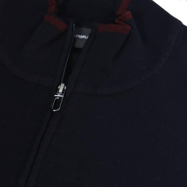 Emporio Armani half zip jumper navy half zip