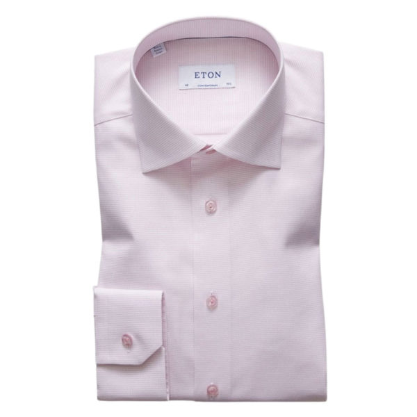 Eton Shirt royal twill contemporary fit pink