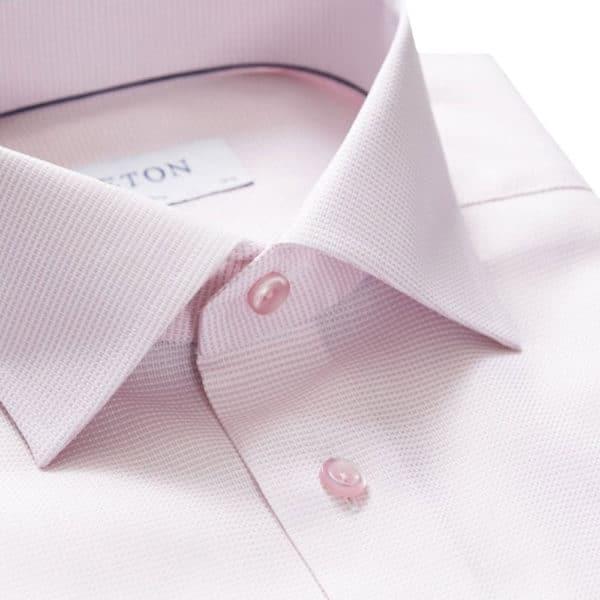 Eton Shirt royal twill contemporary fit pink collar