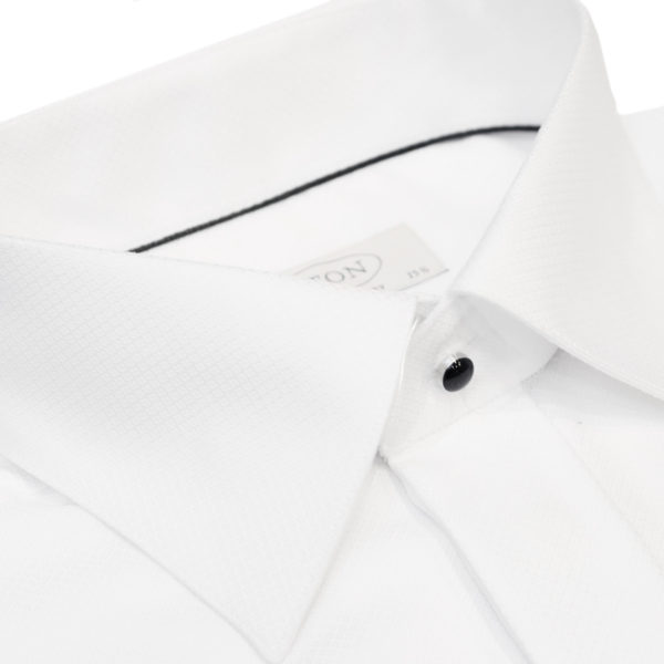 Eton evening shirt black tie collar white