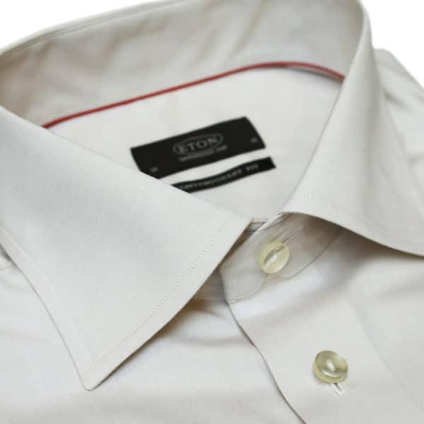 Eton shirt beige signature twill collar1