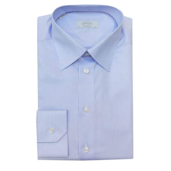 Eton shirt blue double stripe