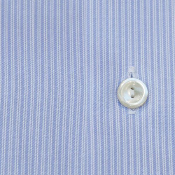 Eton shirt blue double stripe fabric1