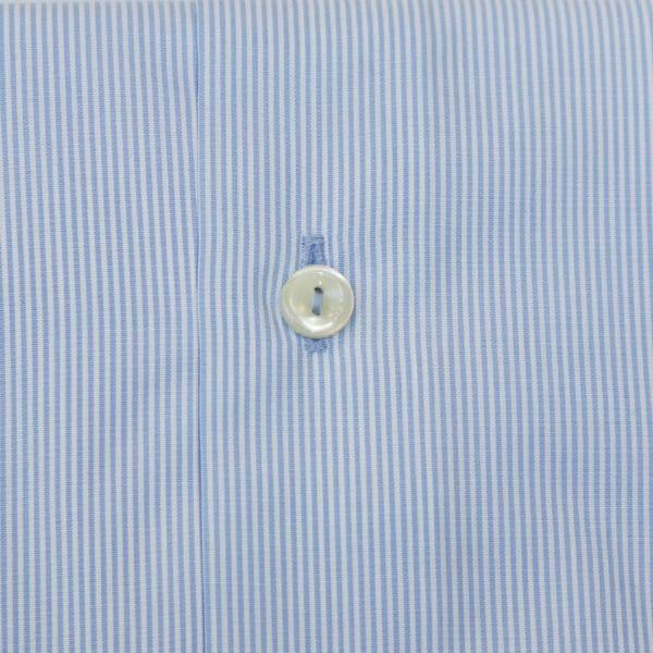 Eton shirt blue stripe brighton fabric