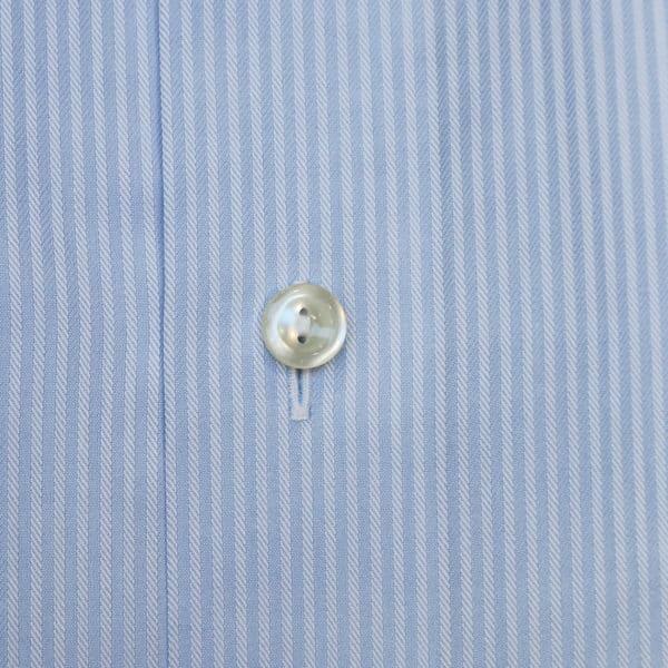 Eton shirt blue stripe herringbone