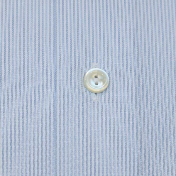 Eton shirt blue textured stripe fabric