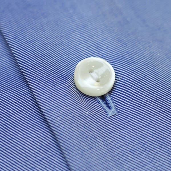 Eton shirt diagonal textured twill navy fabric