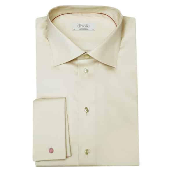 Eton shirt french cuff beige