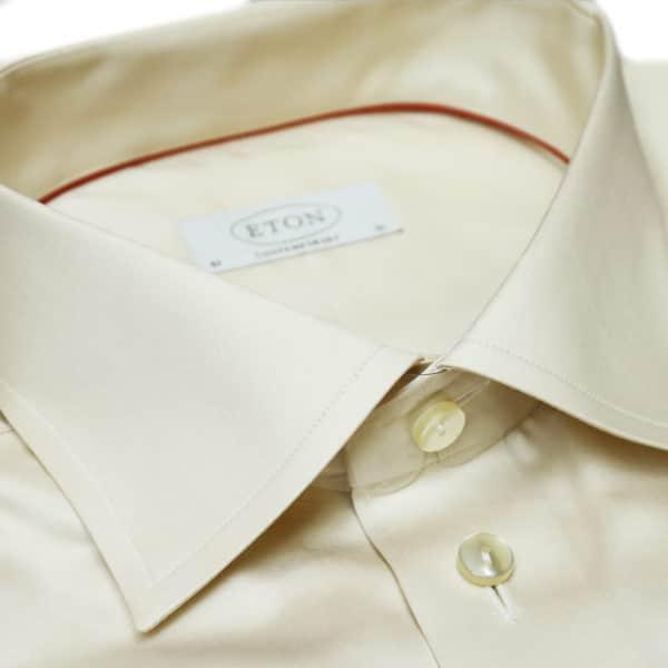 Eton shirt french cuff beige collar
