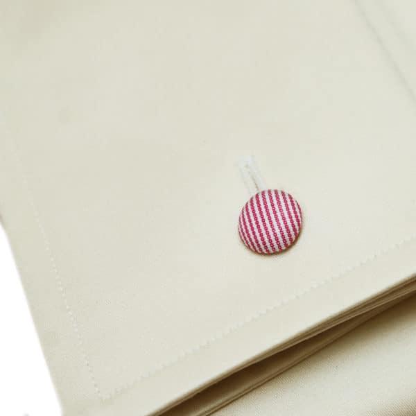 Eton shirt french cuff beige fabric