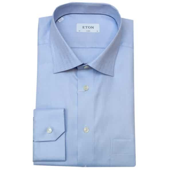 Eton shirt herringbone twill classic fit blue