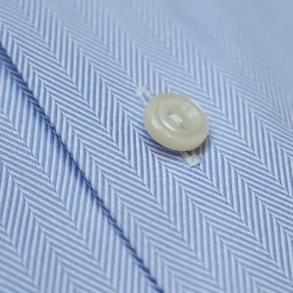 Eton shirt herringbone twill classic fit blue fabric