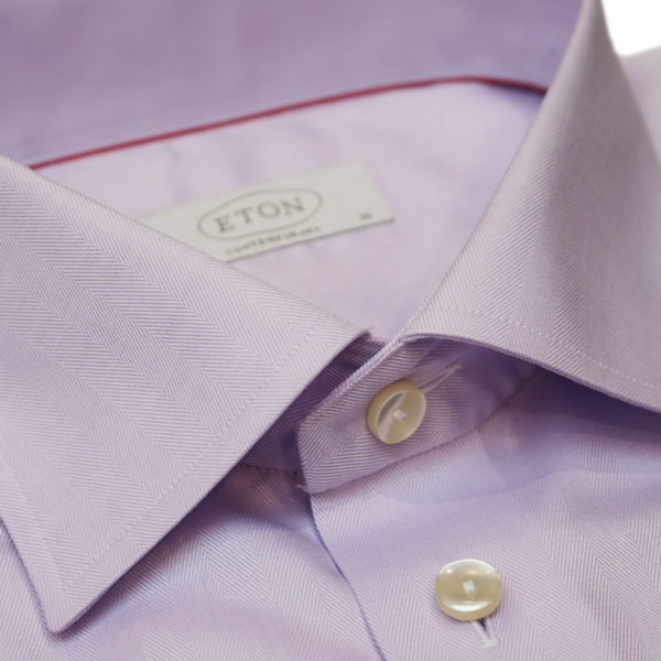 Eton shirt herringbone twill french cuff collar2