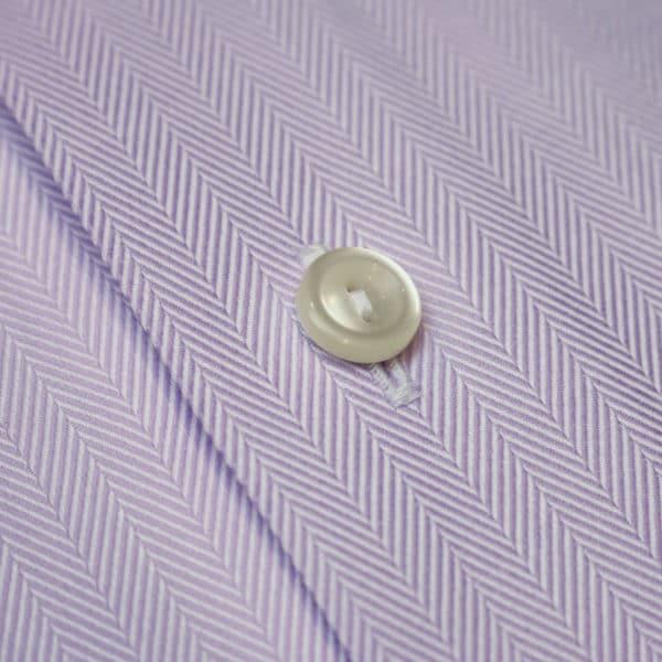 Eton shirt herringbone twill purple fabric