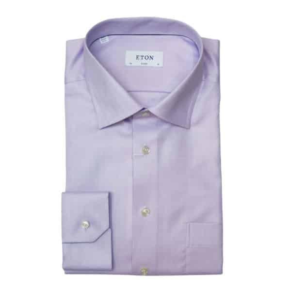 Eton shirt herringbone twill purple1