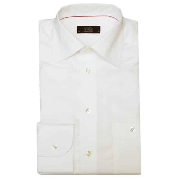 Eton shirt slim fit white round cuff