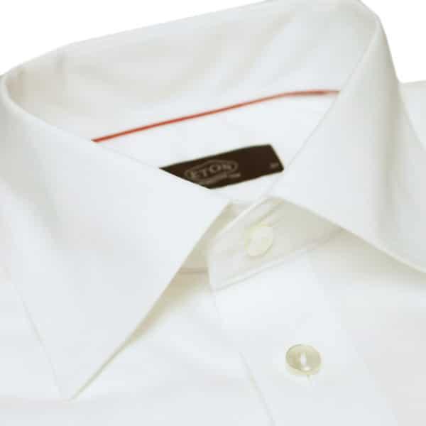 Eton shirt slim white round cuff collar