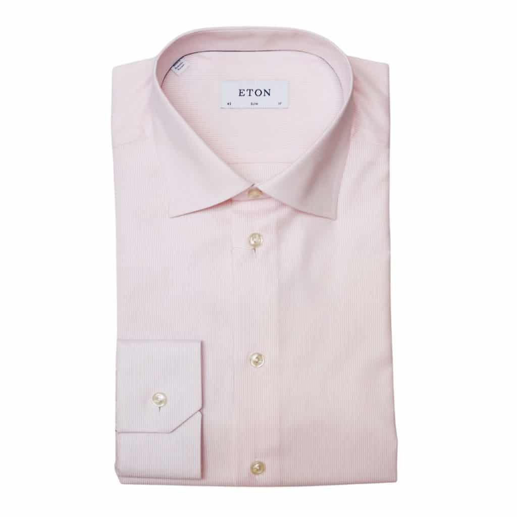 Eton shirt stripe pink