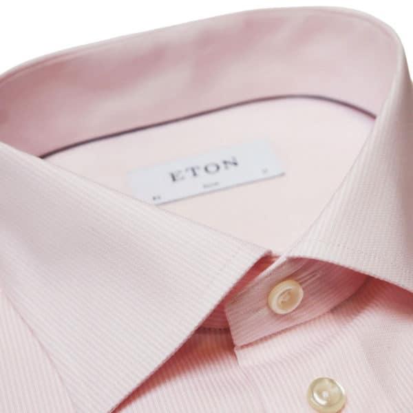 Eton shirt stripe pink collar
