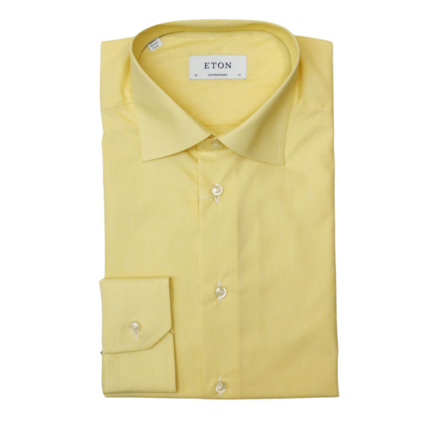 Eton shirt striped twill yellow1