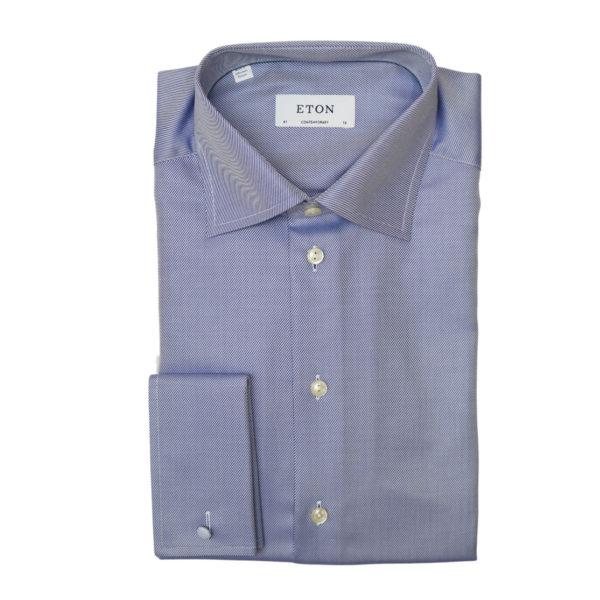 Eton shirt textured twill navy