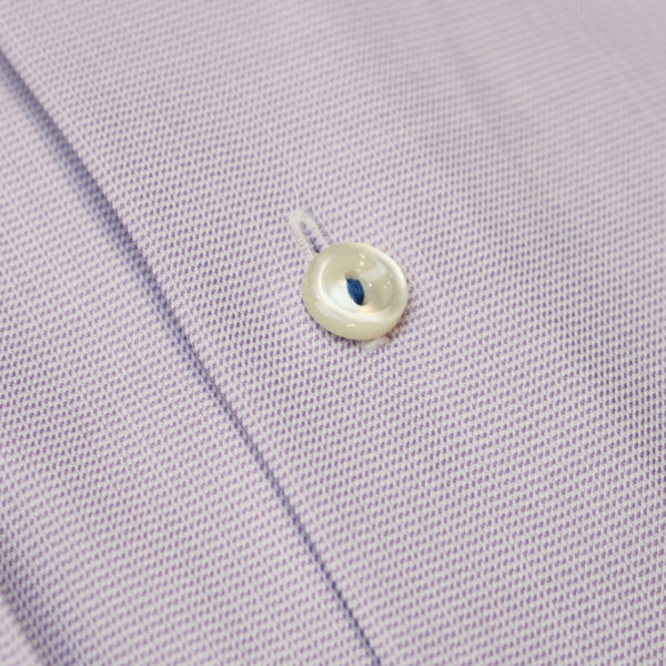 Eton shirt textured twill purple fabric 2