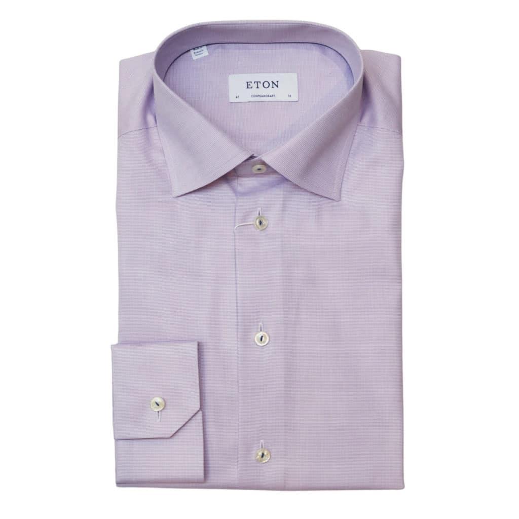 Eton shirt textured twill purple2
