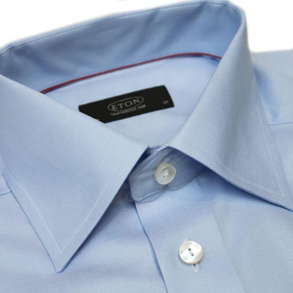 Eton shirt twill french cuff blue collar