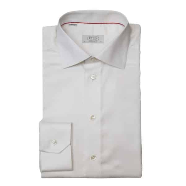 Eton shirt waffle twill off white1 1