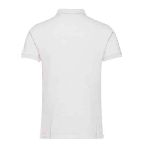 Gant Contrast Collar Pique Short Sleeve Rugger in Eggshell Rear