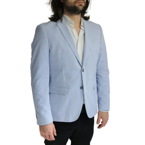 Giordano Blazer jacket striped blue