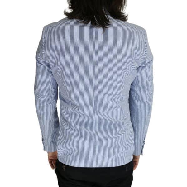 Giordano Blazer jacket striped blue back