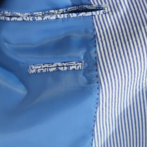 Giordano Blazer jacket striped blue detail lining