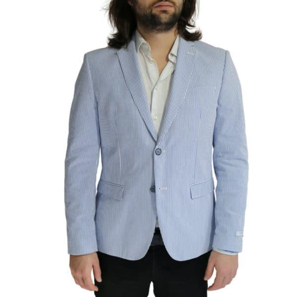 Giordano Blazer jacket striped blue front