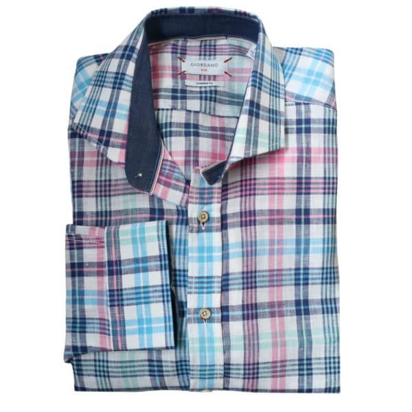 Giordano checked shirt multi 2