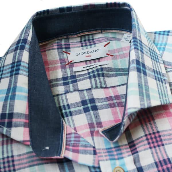 Giordano checked shirt multi